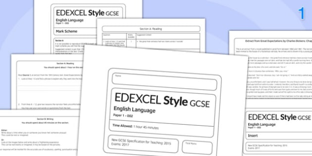 GCSE English Language Exam Paper 1 EDEXCEL - gcse, english, language, ecam paper, edexcel