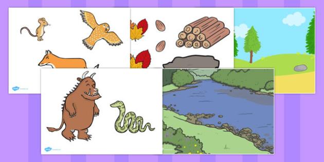 The Gruffalo Story Cut Outs - australia, gruffalo, story, cut outs