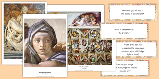 Michelangelo Photopack and Prompt Questions - michelangelo, photo, pack, prompt, questions