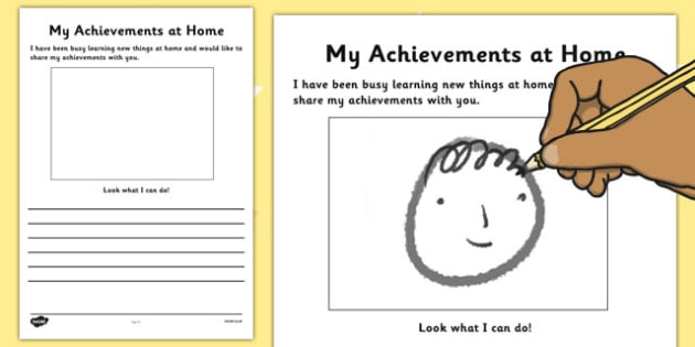 My Achievements at Home Observation Template