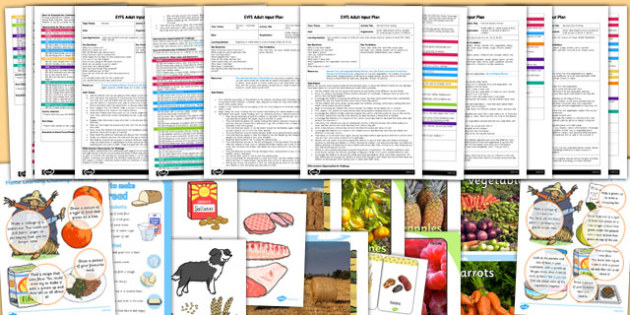 EYFS Harvest Themed Adult Input Planning and Resource Pack - set, resources, early years, autumn, september, topic, planning