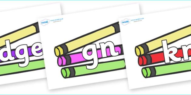 Silent Letters on Crayons - Silent Letters, silent letter, letter blend, consonant, consonants, digraph, trigraph, A-Z letters, literacy, alphabet, letters, alternative sounds