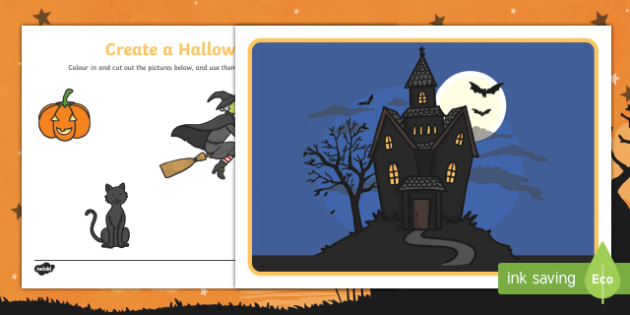 Halloween Themed  Make Your Own Scene Activity