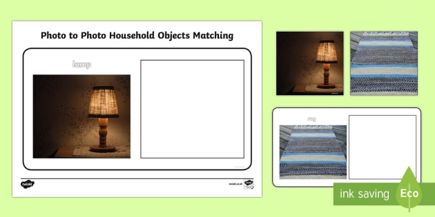 Workstation Pack: Photo to Photo Household Objects Activity Pack