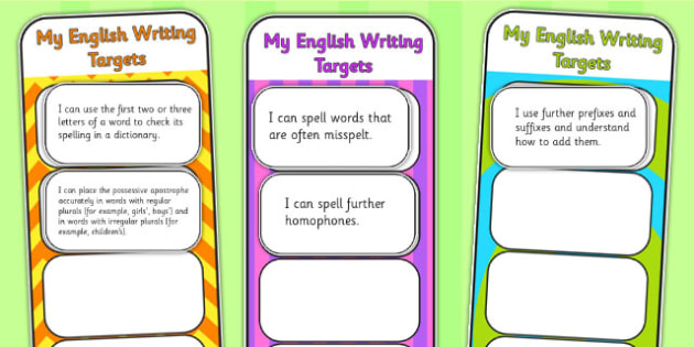 2014 Curriculum LKS2 Years 3 and 4 Writing Assessment Bookmarks
