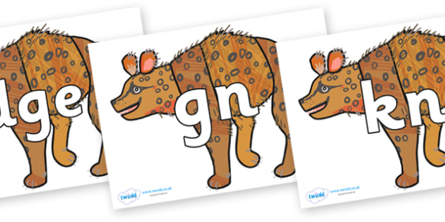 Silent Letters on Hyena to Support Teaching on The Bad Tempered Ladybird - Silent Letters, silent letter, letter blend, consonant, consonants, digraph, trigraph, A-Z letters, literacy, alphabet, letters, alternative sounds