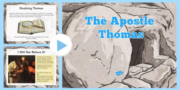Thomas the Apostle PowerPoint, Doubting Thomas,