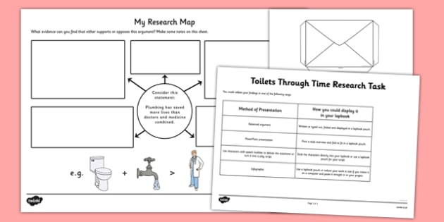 Toilets Through Time Research Task - toilets through time, toilets, time, research task, research, task