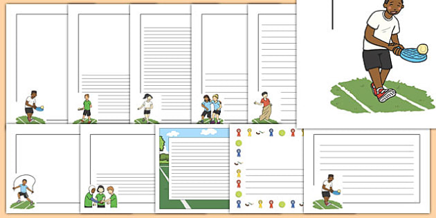 Sports Day Page Borders - sports day, page borders, page, borders, sports, pe, physical education