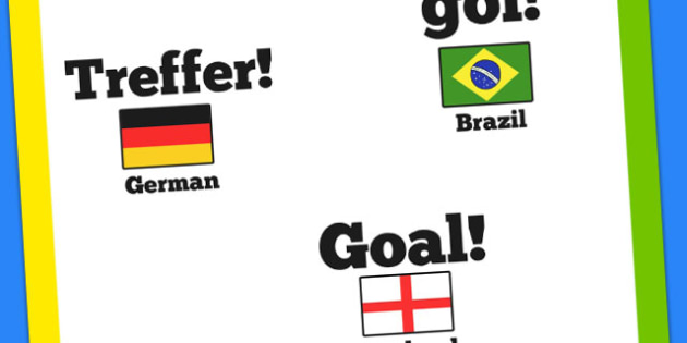 Goal Around the World Translations Poster - football, world cup