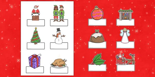Editable Christmas Labels - christmas, labels, editable labels