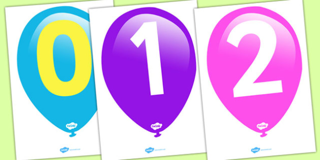 Numbers 0-50 on Balloons (Counting in 5s) - Counting, Balloon, Numberline, Number line, Counting on, Counting back, even numbers, foundation stage numeracy, counting in 2s