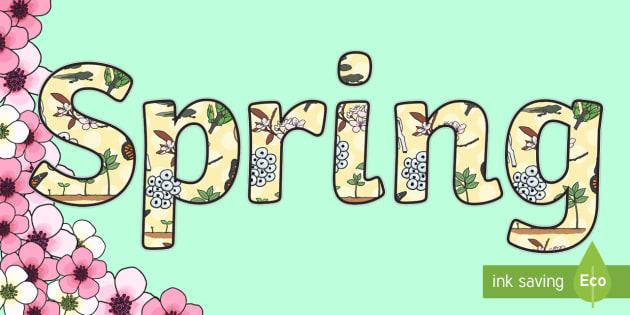 Spring Display Lettering - spring, display lettering, lettering