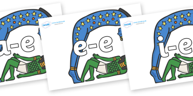 Modifying E Letters on Egyptian Characters - Modifying E, letters, modify, Phase 5, Phase five, alternative spellings for phonemes, DfES letters and Sounds
