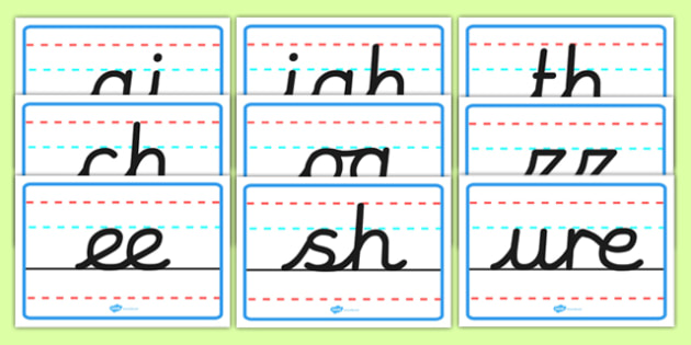 Phase 3 Handwriting Posters - phase 3, handwriting, posters, display, display posters