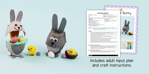 Egg Box Bunny EYFS Adult Input Plan and Craft Pack - craft, pack