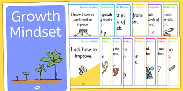 Growth Mindset Statement Posters - PSHE, Facts, Posters, display, information