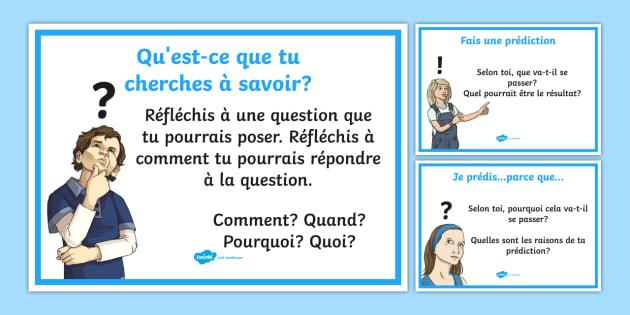 Posters d'affichage sur les expériences scientifiques - Sciences, expériences, résultats,French
