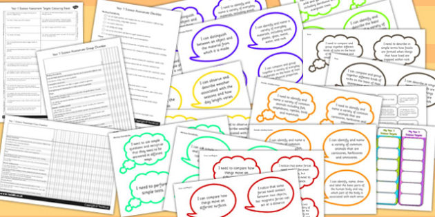 2014 Curriculum Year 3 Science Assessment Resource Pack - targets