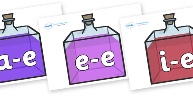 Modifying E Letters on Perfume Bottles - Modifying E, letters, modify, Phase 5, Phase five, alternative spellings for phonemes, DfES letters and Sounds