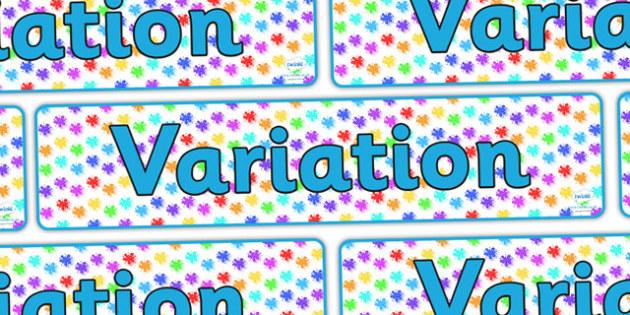 Variation Display Banner - variation, variation banner, variation display, variation display resources, maths display banner, variation resource, ks2 maths
