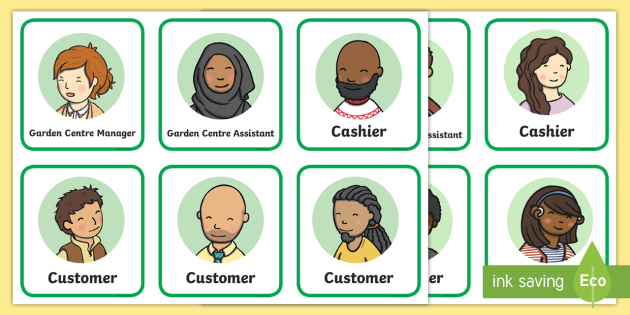 Garden Centre Role Play Badges - garden centre, role play, badges, roleplay, activity
