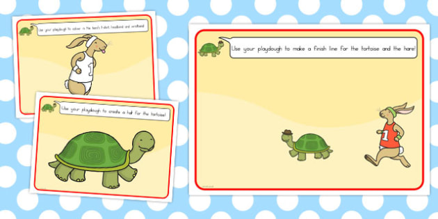 The Tortoise and the Hare Playdough Mats - activity, activities