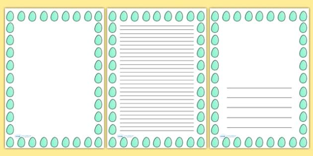 Spotty Easter Egg Portrait Page Borders- Portrait Page Borders - Page border, border, writing template, writing aid, writing frame, a4 border, template, templates, landscape