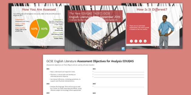 EDUQAS Eng Lit GCSE New Spec Explained Resource Pack