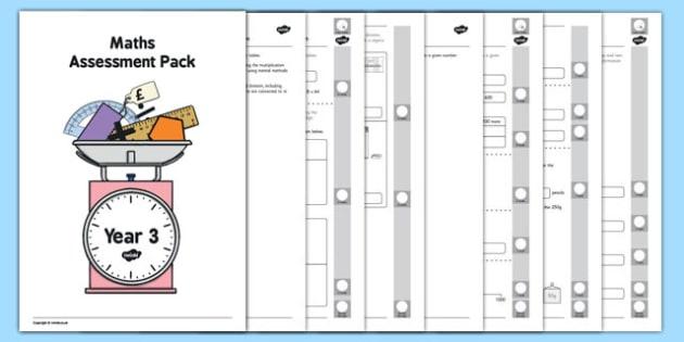Year 3 Maths Assessment Pack Term 2 - year 3, maths, assessment, pack, term 2