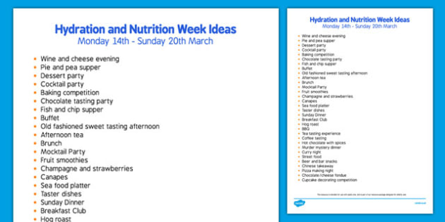 Elderly Care Hydration and Nutrition Week Ideas - Elderly, Reminiscence, Care Homes, Hydration and Nutrition Week