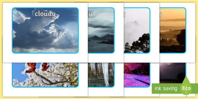 Weather Display Photos - Display Posters, Weather, A4, display, posters, rain, wind, sun, snow, thunder, lightning