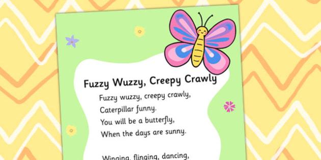 Fuzzy Wuzzy Creepy Crawly Display Poster - display poster, display, fuzzy wuzzy display poster, minibeasts display poster, insect display poster, creepy crawlies display poster, posters, A4 posters, poster, classroom display posters