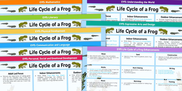 Life Cycle Of A Frog Medium Term And Enhancements EYFS Planning - planning