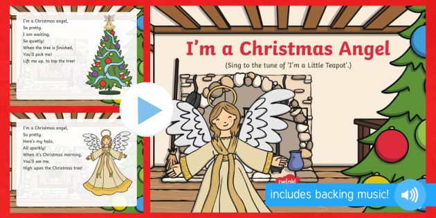 I'm a Christmas Angel Song PowerPoint