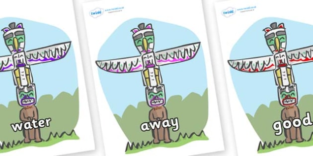 Next 200 Common Words on Totem Poles - Next 200 Common Words on  - DfES Letters and Sounds, Letters and Sounds, Letters and sounds words, Common words, 200 common words