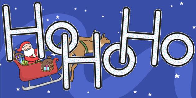 Ho Ho Ho A4 Display Lettering - australia, christmas, display