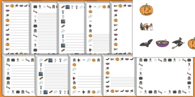 halloween page borders - Halloween Safety Worksheets