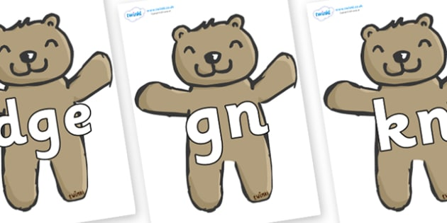 Silent Letters on Teddy Bears - Silent Letters, silent letter, letter blend, consonant, consonants, digraph, trigraph, A-Z letters, literacy, alphabet, letters, alternative sounds