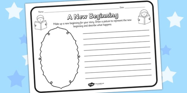 A New Beginning Reading Comprehension Activity - a new beginning, comprehension, comprehension worksheet, character, discussion prompt, reading, discussions