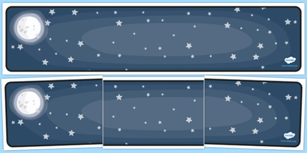 Editable Banner Night Sky - editable banner, banner, editable, night sky, night sky banner, sky banner, night banner, display banner, header, display