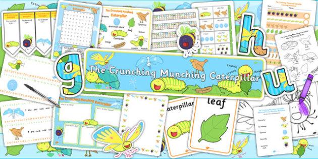 Resource Pack to Support Teaching on The Crunching Munching Caterpillar - stories, books