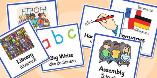 Activitati in clasele primare, cartonase, imagini, cuvinte, Romanian