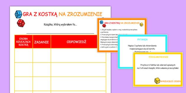 Gra z kostką Zrozumienie tekstu po polsku - język polski