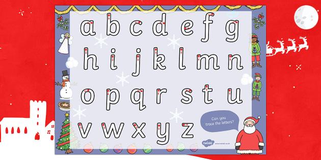 Christmas Themed Letter Writing Worksheet - worksheets, letters