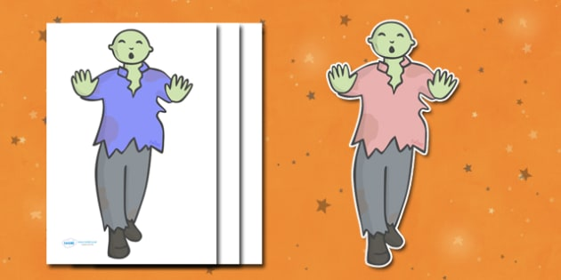 Editable Halloween Zombie (A4) - Editable Halloween Zombie, zombie, A4, display, poster, Halloween, pumpkin, witch, bat, scary, black cat, mummy, grave stone, cauldron, broomstick, haunted house, potion, Hallowe'en