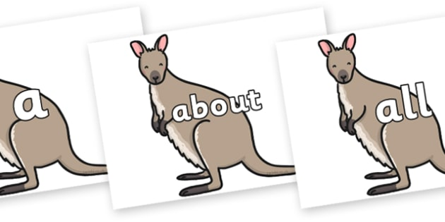 100 High Frequency Words on Wallaby - High frequency words, hfw, DfES Letters and Sounds, Letters and Sounds, display words