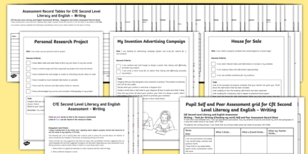 CfE Second Level Writing Assessment Pack