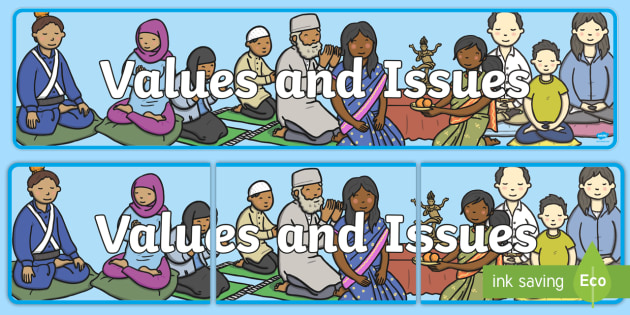 Values and Issues Display Banner CfE - display, banner, cfe