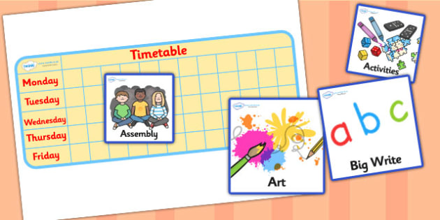 Editable Mini KS1 Daily Routine - Visual Timetable, SEN, editable, editable cards, Daily Timetable, School Day, Daily Activities, KS1, Daily Routine, Foundation Stage